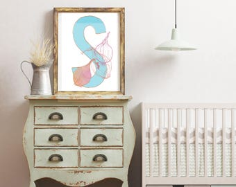 S is For Shallot - Instant download wall decor