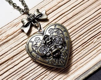 Bronze Bee Locket