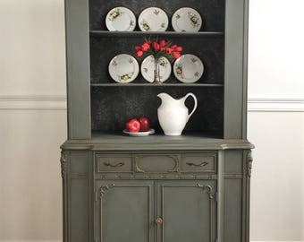 SOLD Regency Revival China Hutch