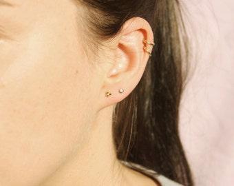 Triple dot studs - tiny gold earrings - tiny earrings - cluster earrings - tiny dot earrings - tiny gold earrings - tiny earring -C1-SF-8552