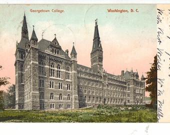 Vintage Postcard, Georgetown College, Washington, DC, 1906