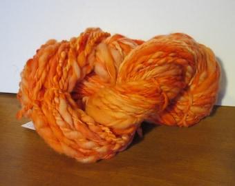 Up Stream - Handspun Art Yarn- salmon