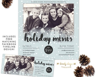 Christmas Mini Session Winter Minis Holiday Template for Photographers INSTANT DOWNLOAD