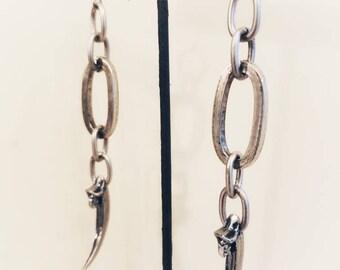 Chunky Raven Claw Earrings