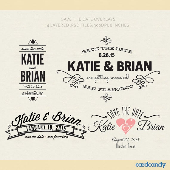 Save The Date Templates Photoshop Kleobeachfixco - Diy save the dates templates