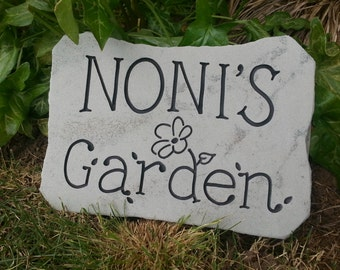 GARDEN STONE ••• {Carved in Stone} ••• custom-engraving • mother's day • anniversary • wedding • garden sign • closing gift • new home