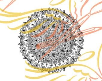Mandala Digital Stamp