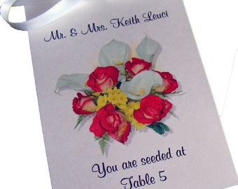 Place Card Escort Cards ~ Calla Lily Design with Wildflower Seeds Inside Perfect for Wedding or Special Event SALE