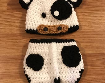 Cow Newborn Photography Prop/ crochet cow/ baby cow