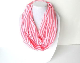 Peach Infinity Scarf, Summer Scarf, Lightweight Scarf, Mother's Day Gift, Fashion Accessory
