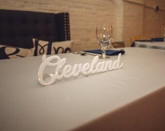 Cleveland laser cutout decoration