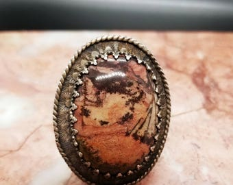 Picture Jasper ring size 10