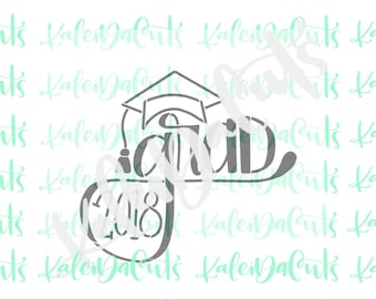 PYO Stencil. Grad Hand Lettering. Hand Lettered Design. Matching Cookie Cutter.