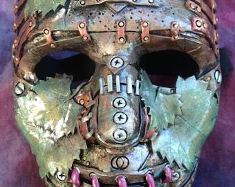 """9"""" Steampunk Leaf Mask"""