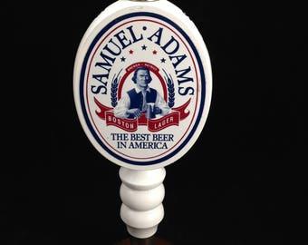 Tap Handle for Samuel Adams Boston Lager 8 1/2 Inch Tall White Ceramic     01717