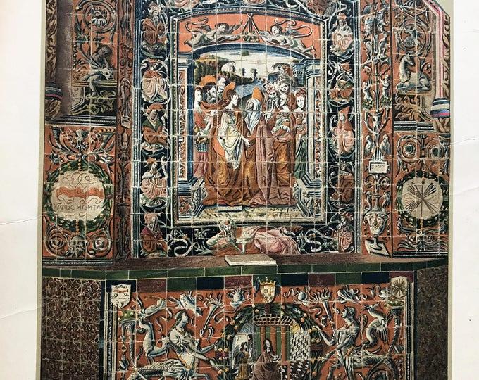 Litografia-altar of the Alcazar of Seville tiles.