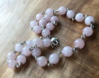 Soft Pink Rose Quartz Necklace
