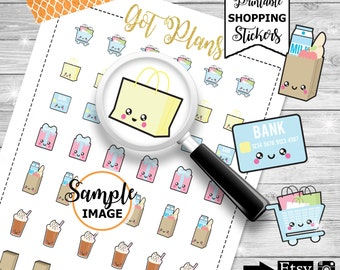 Shopping Planner Stickers, Shopping Stickers, Planner Printable, Stickers For Planner, Planner Accessories, Planner Decor