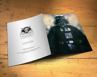 Star Wars Darth Vader Greetings Card - Wall Decor, Inspirational Print, Home Decor, Eco Friendly, Gift, 5x7 inches Art Print