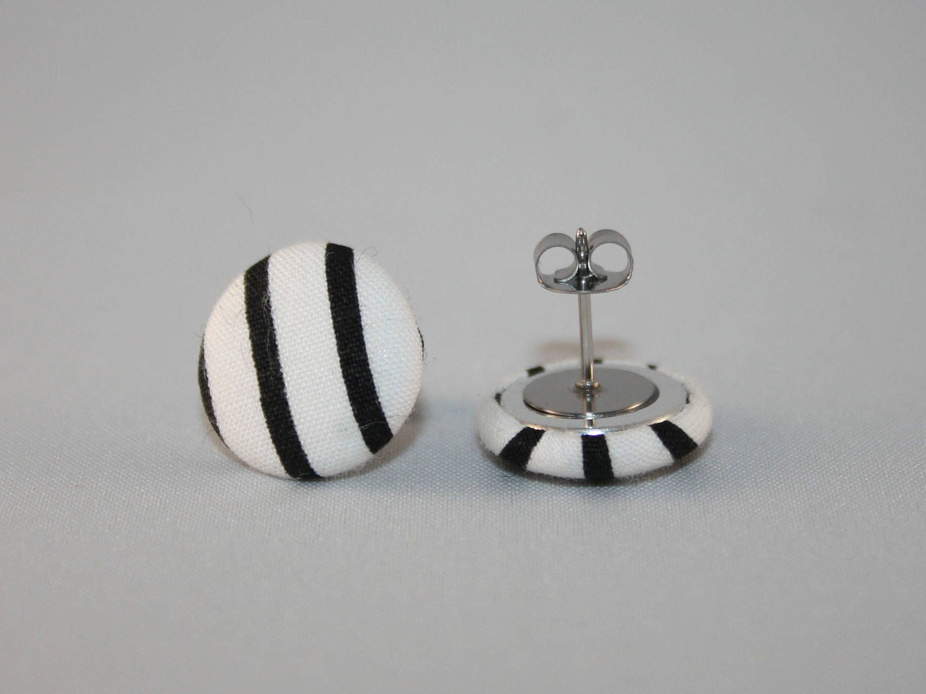 earrings asp stud surgical ball size was p steel