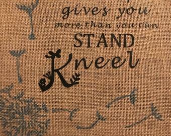 Vinyl quote-kneel