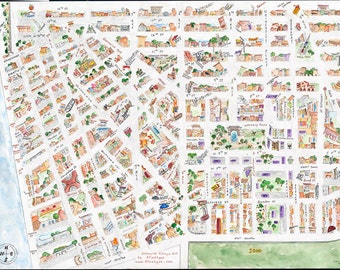Greenwich Village Map Poster