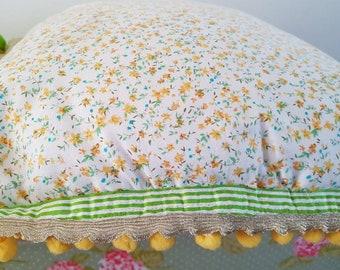 Handmade cushion. Recycled material .