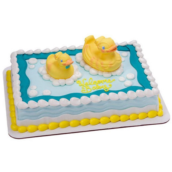 Rubber Ducky Cake Decorating Kit Duck Party Supplies Topper Bakery Baby Shower From