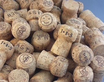 50 Assorted Champagne Corks -- Reclaimed Corks