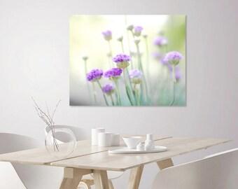 Pale Purple Print   Dreamy Flower Photography Prints   Botanical Prints   Purple + Green Flowers   Large Flower Prints for Wall Art Decor