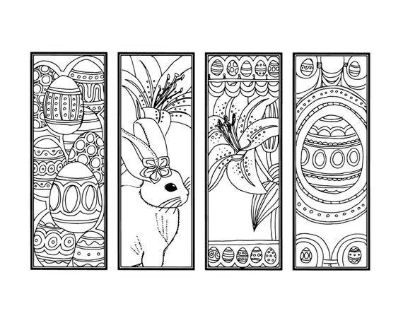 DIY Easter Bookmarks Printable
