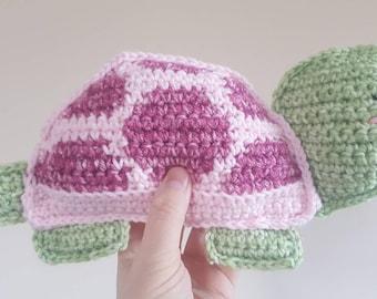 Sale- Handmade crochet stuffed turtle, ragdoll, plush toy