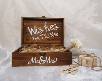 Wishes For The New Mr. & Mrs. Wood Heart Guest Book, Unique Wedding Guest Book, Guest Book Alternative, Rustic Guest Book, Guest Book