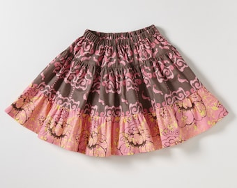 Handmade Girl's Cotton Skirt - For 4 Year Old - Magical Garden no.324