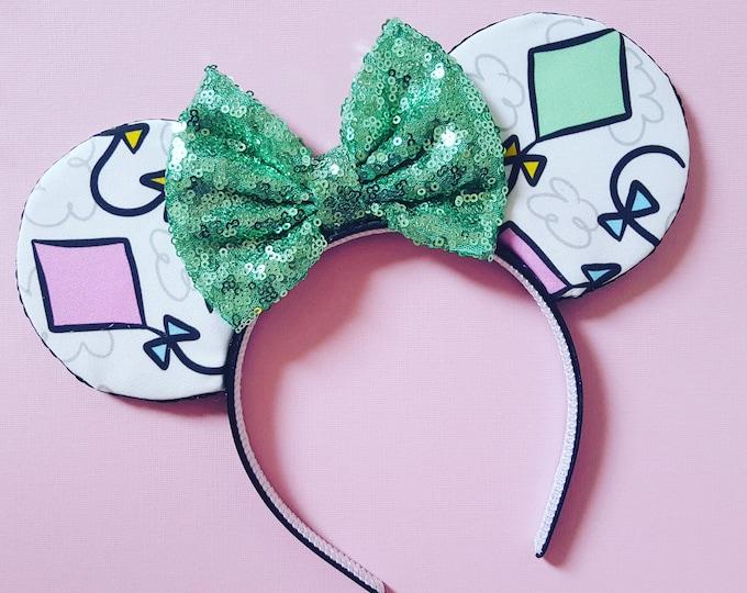 Kite Mouse Ears || Mouse Ears || Minnie Ears || Mouse Ears Headband || Let's Go Fly a Kite Ears || Sparkle Mouse Ears || RTS