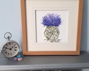 Thistle Mosaic Wall Art