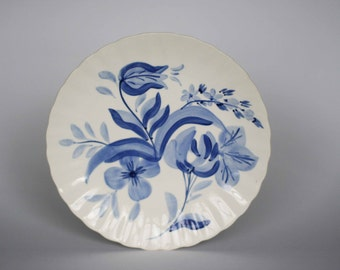vintage blue ridge dinner plates hand painted set of two