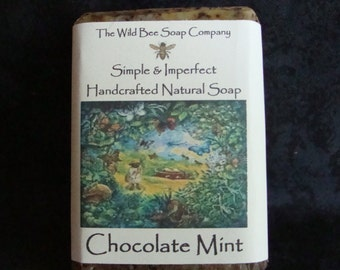 Chocolate Mint Soap, Soap, Natural Soap, Handcrafted Soap, Peppermint, Bar Soap, Bath Product, Herbal Soap, Cold Process Soap, Natural Soap