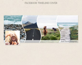 Facebook Timeline Cover - Facebook Timeline Template - PSD Template - Customize Facebook Page - Instant Download - F214