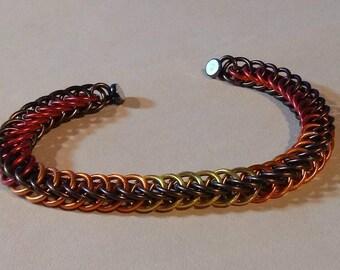 Autumn Colors Chainmaille Bracelet