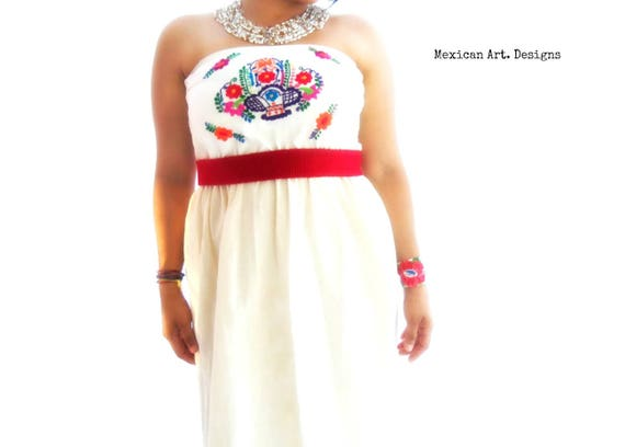 Wedding Dress Bohemian Embroidered Mexican Strapless q6gTwvwxt