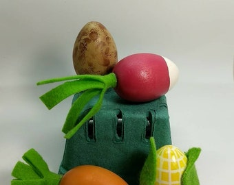 Eggie Veggies - Wooden Egg Vegetables - Wooden Play Food - Gifts under 30