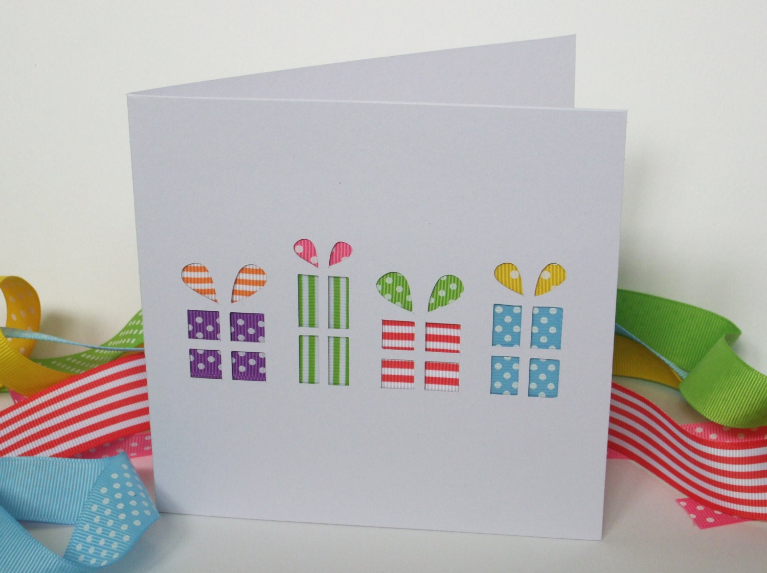 Birthday presents card birthday gift card paper cut card zoom negle Gallery