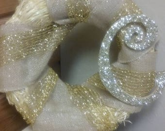 Glitter & Burlap Wreath | Rustic Glam Wreath | Rustic Wreath | Glitter Initial | Straw Wreath | Front Door Wreath | Home Decor | Patio Decor