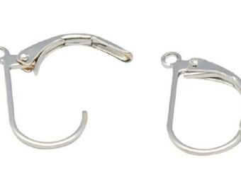 10 support nickel free earring hook brass clip / sleeper