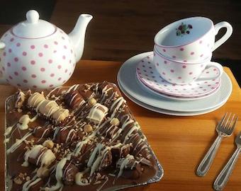 Chocolate Hazelnut Brownie, Chocolate Brownie Traybake, Hazelnut Lover, Chocolate Lover, Nutella Brownie, Food Gift, Gift for her