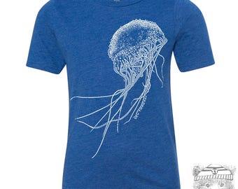 Kids JELLYFISH Premium vintage soft Tee T-Shirt Fine Jersey T-Shirt (+Colors) - FREE Shipping