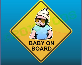 Baby Carlos Baby On Board Magnetic For Cars Minivans Fridges