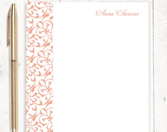 personalized notePAD - LACY FLOURISHES - stationery - stationary - women's gift - choose color