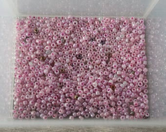 14g with tones of pink seed beads